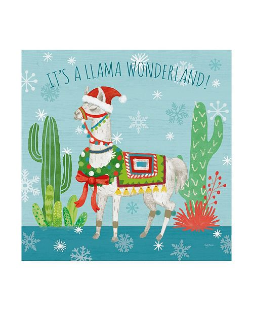 "Trademark Global Mary Urban Lovely Llamas Christmas V Canvas Art - 20"" x 25"""