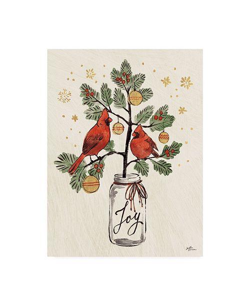"""Trademark Global Janelle Penner Christmas Lovebirds XIV Canvas Art - 15"""" x 20"""""""