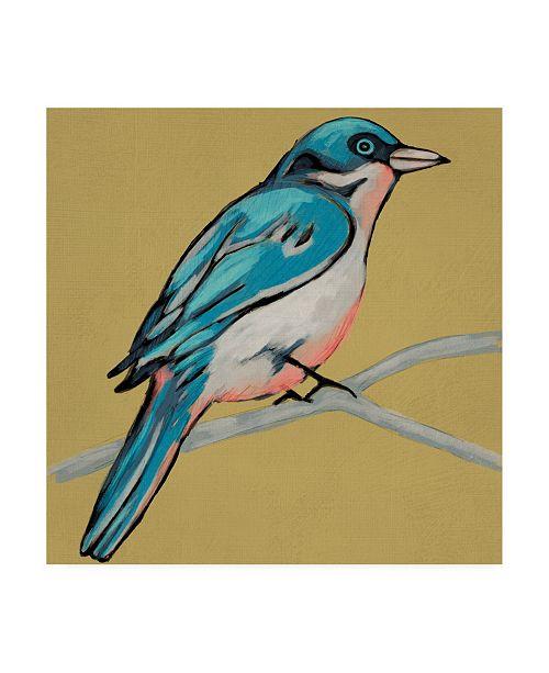 "Trademark Global Chariklia Zarris Winged Sketch IV on Ochre Canvas Art - 20"" x 25"""
