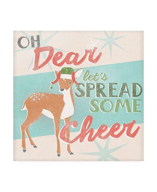 "Trademark Global June Erica Vess Deer Retro Christmas I Canvas Art - 15"" x 20"""