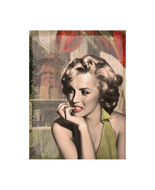 "Trademark Global Chris Consani The Thinker Red Lips Canvas Art - 20"" x 25"""