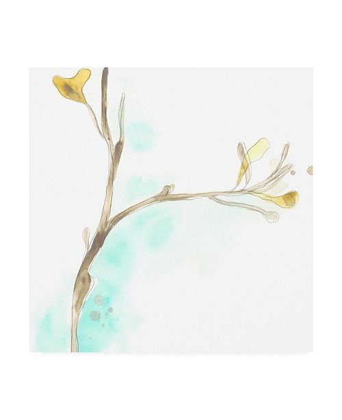 "Trademark Global June Erica Vess Teal and Ochre Ginko IV Canvas Art - 20"" x 25"""