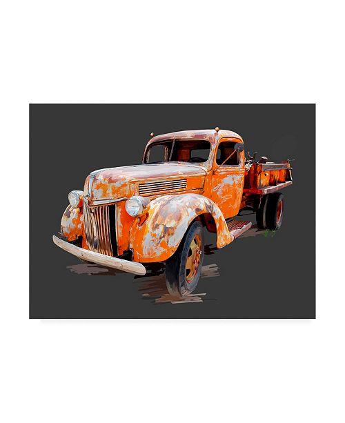 "Trademark Global Emily Kalina Vintage Truck V Canvas Art - 20"" x 25"""
