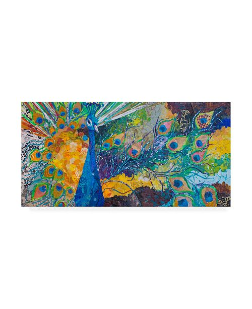 "Trademark Global Elizabeth St. Hilaire Percy Peacock II Canvas Art - 15"" x 20"""