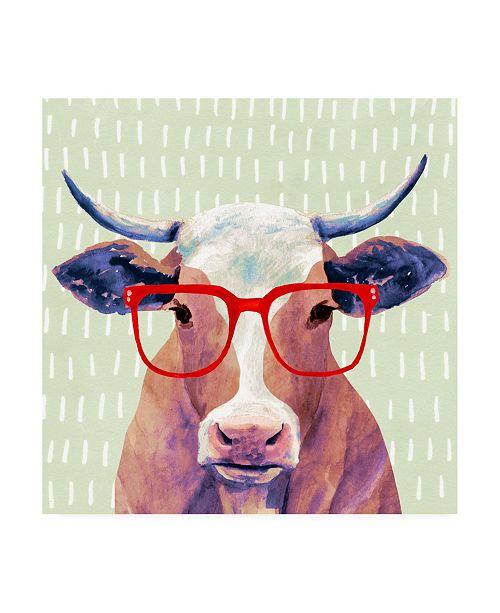 "Trademark Global Victoria Borges Bespectacled Bovine I Canvas Art - 15"" x 20"""