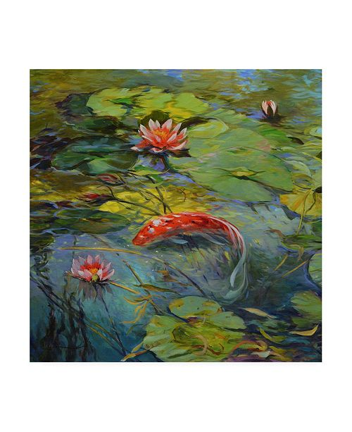 "Trademark Global Chuck Larivey Vermillion Koi Canvas Art - 15"" x 20"""