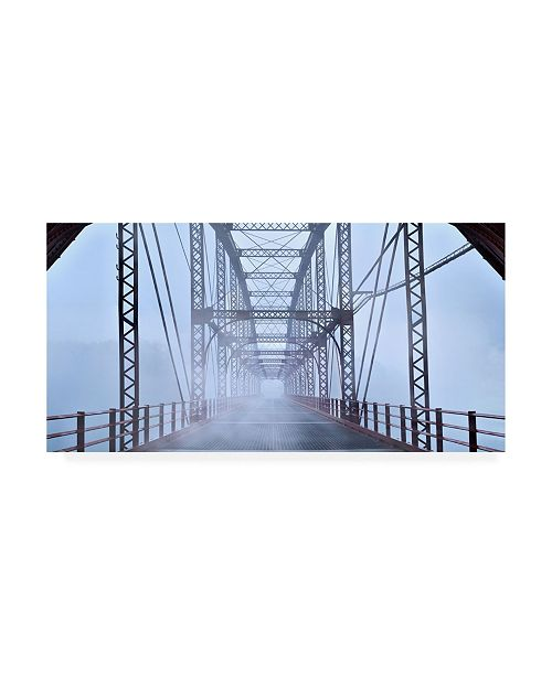 "Trademark Global James Mcloughlin Misty Bridge Canvas Art - 20"" x 25"""