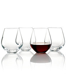 Lenox Stemware, Tuscany Classics Stemless Red, Set of 4