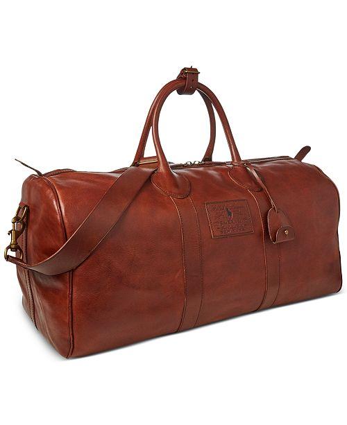 Polo Ralph Lauren Men S Leather Duffel