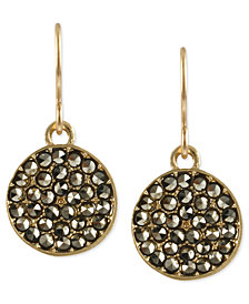 Kenneth Cole New York Earrings, Glass Crystal Circle Drop Earrings