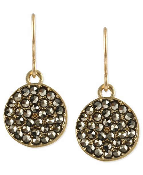 Kenneth Cole Pave Circle Drop Earring