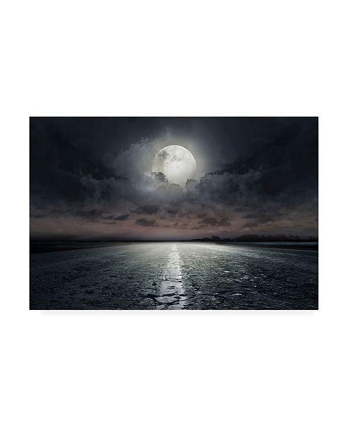"Trademark Global PhotoINC Studio Moon Street Canvas Art - 19.5"" x 26"""