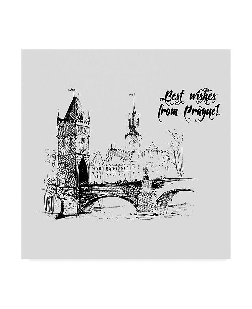 "Trademark Global TypeLike Prague Canvas Art - 15.5"" x 21"""