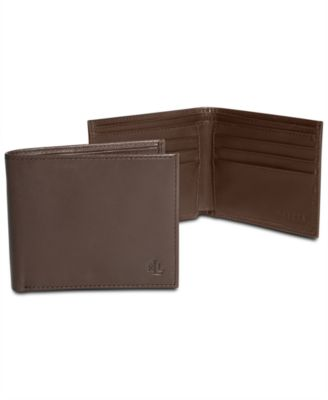 Lauren Ralph Lauren Lauren by Ralph Lauren Burnished Leather Slim Billfold  Wallet - All Accessories - Men - Macy s 77cdb6b9433