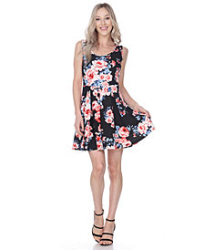White Mark Women's Flower Crystal Dress