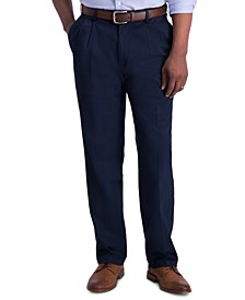Men's Iron Free Premium Khaki Classic-Fit Pleated Pant