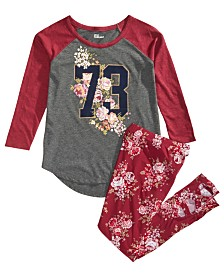 Epic Threads Big Girls Raglan T-Shirt & Floral-Print Leggings, Created for Macy's