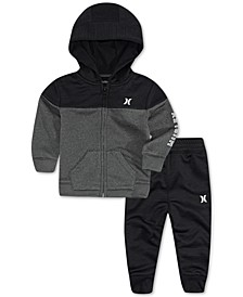 Baby Boys 2-Pc. Dri-FIT Solar French Terry Zip Hoodie & Jogger Pants Set