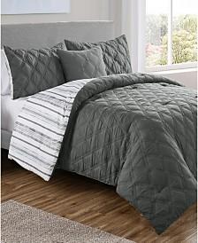 Quad Diamond 4-Pc. Full/Queen Reversible Comforter Set