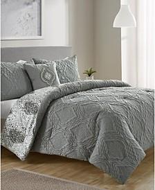 Luanna 4-Pc. King Reversible Comforter Set