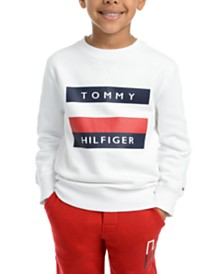 Tommy Hilfiger Little Boys Austin Fleece Logo Sweatshirt