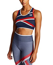 Infinity Colorblocked Racerback Medium-Impact Sports Bra