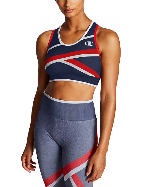 Champion Infinity Colorblocked Racerback Medium-Impact Sports Bra