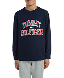 Tommy Hilfiger Big Boys Henry Fleece Logo Sweatshirt