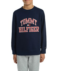 Tommy Hilfiger Big Boys Henry Fleece Logo Sweatshirt