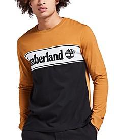 Men's Linear Logo Graphic Long Sleeve T-Shirt