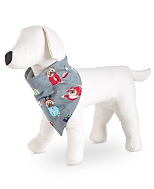 Matching Family Pajamas Happy Pawlidays Pet Bandana, Created for Macy's