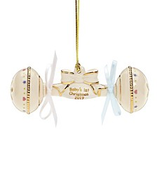 CLOSEOUT! 2019 Babys 1st Christmas Rattle Ornament