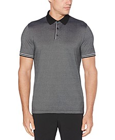 Men's Big & Tall Regular-Fit Moisture-Wicking Fine Stripe Polo Shirt