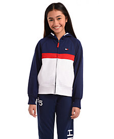Tommy Hilfiger Little Girls Colorblocked Zip-Up Hoodie