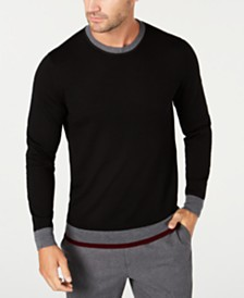 Tasso Elba Men's Merino Sweater, Created for Macy's