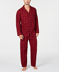 Men's Red Plaid Flannel Pajamas, Created for Macy's