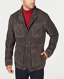 Men's Suede Four-Pocket Military Jacket