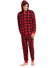 Matching Men's Buffalo-Check Hooded Pajamas, Created for Macy's