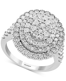 EFFY® Diamond Halo Cluster Ring (1-1/2 ct. t.w.) in 14k White Gold