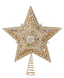 "13.5"" Star Treetop with Glitter"