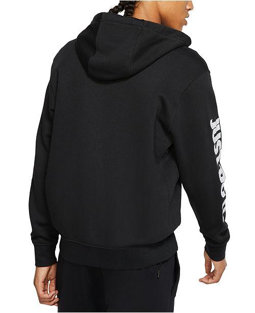 Nike Men's Sportswear Just Do It Fleece Zip Hoodie Black S