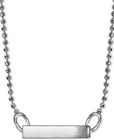 "Polished Bar 16"" Pendant Necklace in Sterling Silver"