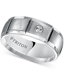 Triton Men's Diamond Band (1/10 ct. t.w.) in Cobalt