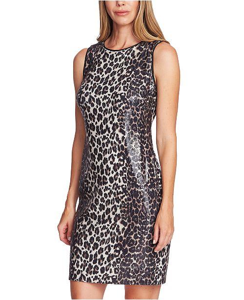 Vince Camuto Animal-Print Dress