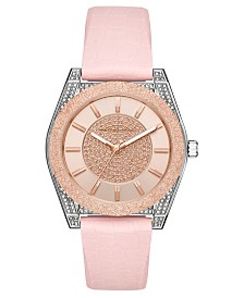 Michael Kors Women's Channing Pink Silicone Strap Watch 40mm