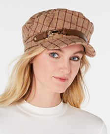 I.N.C. Windowpane-Plaid Cap, Created for Macy's