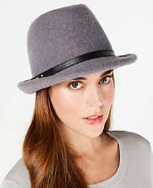 INC Packable Wool Fedora, Created for Macy's