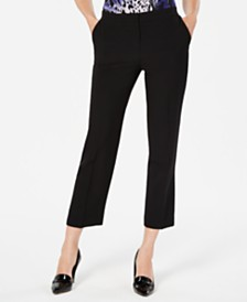 Kasper Straight-Leg Ankle Pants
