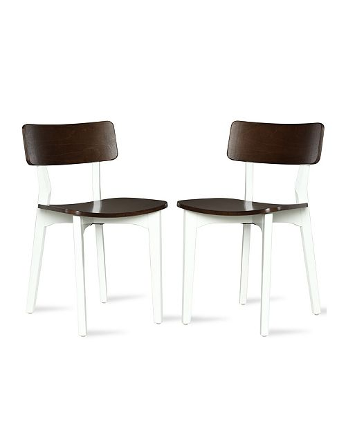 Pleasing Novogratz Va Rick Two Tone Dining Chair 2 Pack Machost Co Dining Chair Design Ideas Machostcouk