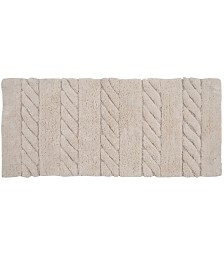 """Affinity Linens Soft Cotton Anti Skid Cable Weave Oversized 22"""" x 60"""" Bath Rug"""